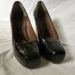 Marni patent leather wooden heels